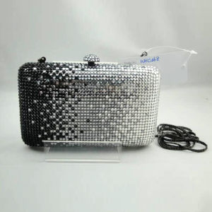 Crystal Evening Bag (WHC468-2blk+silver)
