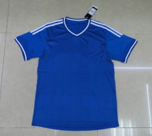 2013 New Arrival Blue Soccer Jersey Thai Quality Football Jersey Breathable Free Shipping pictures & photos