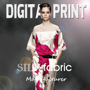 No MOQ High Quality Custom Digital Printing Silk Fabric pictures & photos