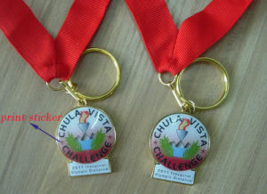 Custom Design Brass Metal Gold Plated Souvenir Medals with Lanyard (AS-ML-059) pictures & photos