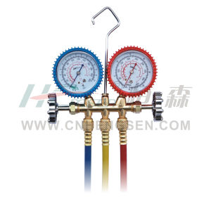 CT-636 G F/P Brass Manifold Gauges Set for R12/R22/R502 Double Gauges Manifold Set Air Conditioner Parts Refrigeration Parts Refrigeration Tools pictures & photos