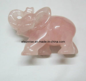 Semi Precious Stone Fashion Animal Carving Statue (ESB01533) pictures & photos