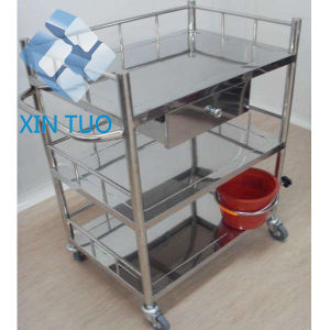 Economic with Storage Box Medical Trolley pictures & photos
