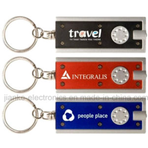 LED Flashing Keychain Light with Logo Print (3672)