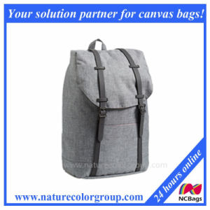 Leisure Style with Pure Color Canvas Laptop School Bags
