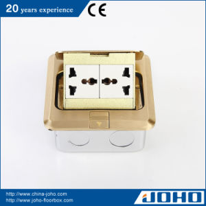 Brass Pop up Floor Socket Box with Universal Outlets