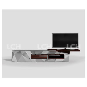 Modern Long Glass TV Stand for Living Room