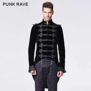 2015 Autumn New Design Punk Rave Black Man Jacket (Y-593)