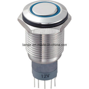 High Quality CE RoHS 16mm Vandal Resistant Switch, Ring Illuminated Push Button Switch pictures & photos