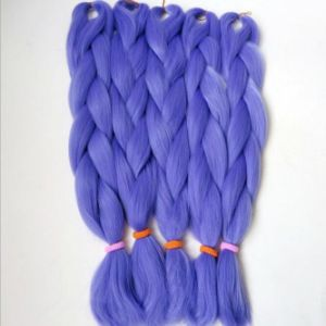 Africa Blue Color Chemical Fiber X - Pression Ultra Braid Hair