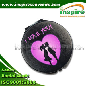 Popular PU Portable Folding Mirror for Lovers pictures & photos