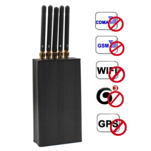 808kf Black Portable 3G WiFi GPS Cell Phone Signal Protector