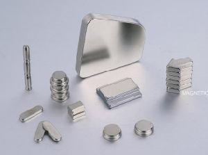 china custom power n52 nickel plated trapezoid neodymium magnets in