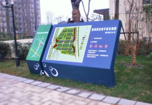 Exterior Attractive Park Layout Map Non-Illuminated Directory Sign pictures & photos