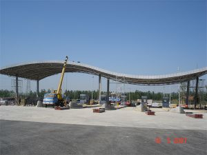 Prefab Petrol Gas Station Toll Station