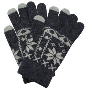 Fashion Rabbit Fur Knitted Touch Screen Gloves (YKY5458) pictures & photos