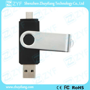 Black Rotating 32GB OTG USB for Android Mobile Phones (ZYF1624)