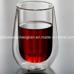 Hand Made Promotional Double Wall Whiskey Glass (B-DBW045) pictures & photos
