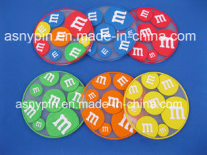 M&M Candy Logo Silicone Coaster for Cup pictures & photos