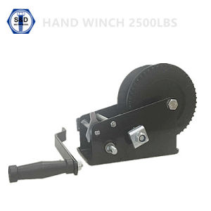 2500lbs Hand Winch Zinc Plated+Powder Coating