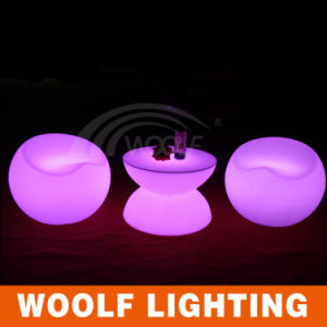 Rechargeable Light up Outdoor LED Round Coffee Table