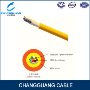 Tight Buffer Fiber PVC/LSZH Jacket Fiber Optic Cable GJFJV