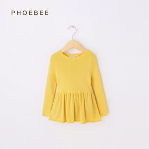 Phoebee Cotton Knitting/Knitted Spring/Autumn Kids Clothes for Girls pictures & photos