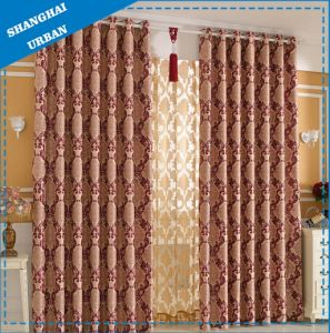 100%Polyester Hotel, Home Print and Satin Curtain pictures & photos