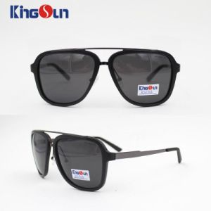 Metal Bridge Plastic Sunglasses with Polarized Lens Ks1133 pictures & photos