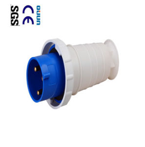 Industrial Plug (QJ-033) of IP67 63A 2p+E Plastic PA PP