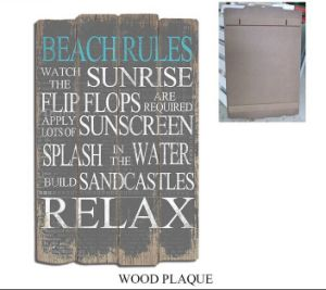 Vintage MDF Sign Wooden Signs Wooden Printing Wall Art with Word Decoration pictures & photos
