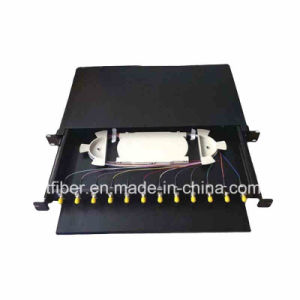1u 24 Core Simplex Rack Mounted Structure St Fiber Optic Terminal Box pictures & photos