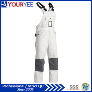 Customized Painters White One Piece Work Wear Bib Overall (YBD121)