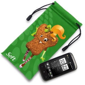 Microfiber Pouch with Single Drawstring, Ideal for Mobilephone (XY-00224)