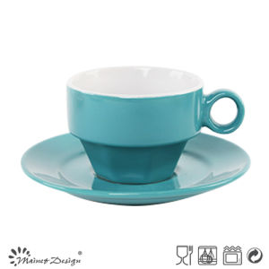 Elegant Color Glazing Cup&Saucer pictures & photos
