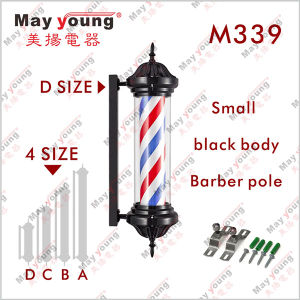Hot Sell M339 Black Rotating Barber Shop Pole pictures & photos