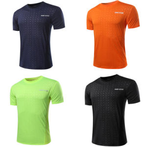 2017 Wholesale Men Running Quick Dry Fit Sport T-Shirt (A004)