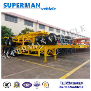 20FT Two Axle Skeleton Frame Skeletal Container Semi-Trailer pictures & photos