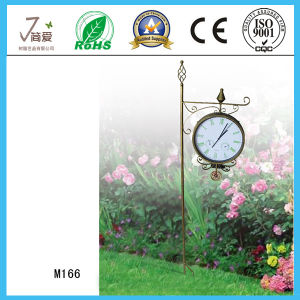New Clock Shape Iron Decoration Crafts for Garden Decoration pictures & photos