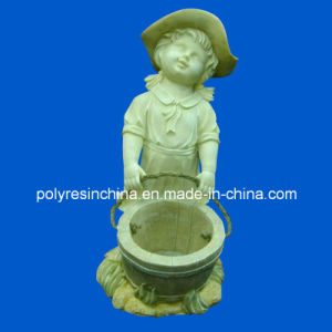 Polyresin Flower Planter of Girl Statue Decoration pictures & photos