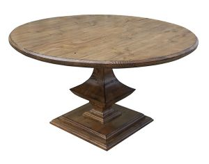 Kvj-Rr10 Colonial Round Brown Reclaimed Wood Elm Dining Table