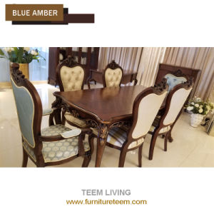 Classic Home Furniture Dining Room Solid Wood Fabric Arm Chair BA 2705
