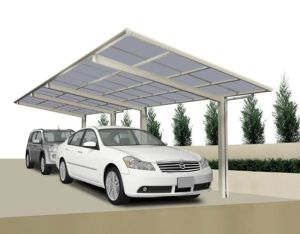China Metal Frame Attached Aluminium Carport Garage China Garage With Polycarbonate Sheet Roofing Function Carport