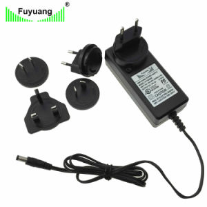 Fuyuang Plug in 12V 3A AC DC Adapter Power Adapter with Changeable Us, EU,  Au AC Plug