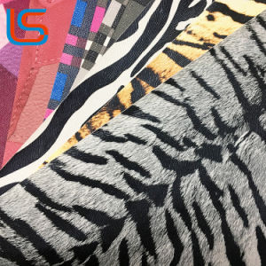 The Tiger Stripes Surface PVC Transfer Film Synthetic Leather