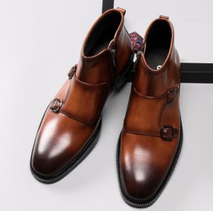Factory Sell Dress Men Boots Leather