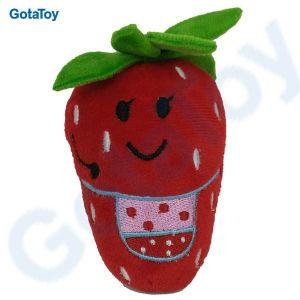 Ce Cpsia Custom Plush Toy Fruit Stuffed Toy Strawberry with Embroidery