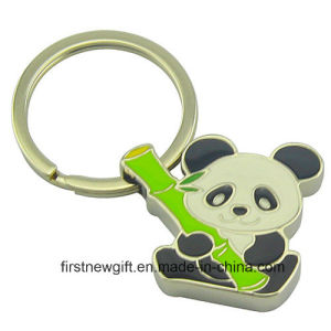 Promotion Fancy Animal Metal Cartoon Panda Keychain with Logo (F1373)