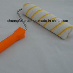 "9"" Pile 12mm Yellow Stripe Acrylic European Style Paint Roller with Plastic Handle pictures & photos"