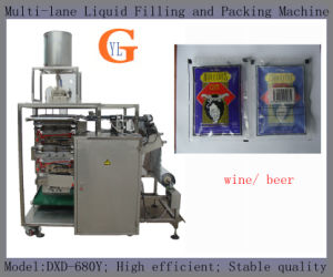 Multi-Lane 100ml Liquid/Wine Filling and Packing Machine (4 sides sealing) pictures & photos